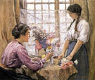 Arranging Flowers - Henry Meynell Rheam