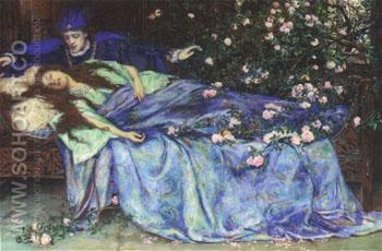 Sleeping Beauty - Henry Meynell Rheam reproduction oil painting