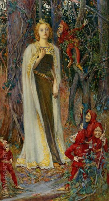 Snow White - Henry Meynell Rheam reproduction oil painting
