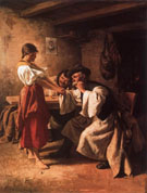 Wooers 1881 - Imre Revesz reproduction oil painting