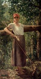 Portrait De Paysanne - Jacqueline Comerre Paton reproduction oil painting