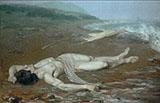 Leanders Body Washed Ashore 1884 - Johan Axel Gustaf Acke