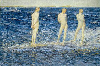 Salt Wind and Sea 1906 - Johan Axel Gustaf Acke reproduction oil painting