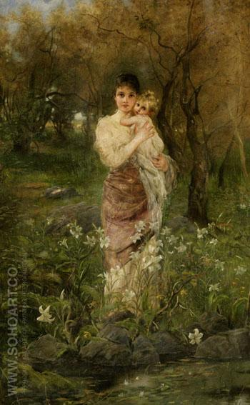Mothers Sweetheart - Joseph Arpad Koppay reproduction oil painting