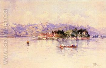 Boating on Lago Maggiore Isola Bella Beyond - Paolo Sala reproduction oil painting