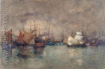 Sul Tamigi c1900 - Paolo Sala reproduction oil painting