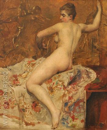 Female Nude - Paul Jean Gervais reproduction oil painting