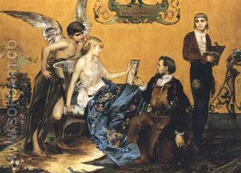 Hommage A La Bijouterie Francaise 1883 - Paul Jean Gervais reproduction oil painting