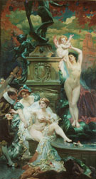 La Fontaine De Jouvence - Paul Jean Gervais reproduction oil painting