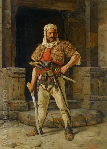 A Serbian Warriors - Paul Joanovitch reproduction oil painting