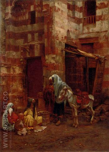 Eastern Street Sellers - Paul Joanovitch reproduction oil painting
