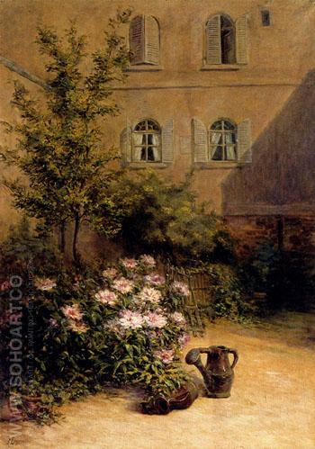 A Corner of The Garden 1938 - Remy E Landeau reproduction oil painting