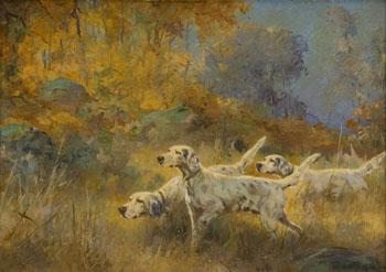 English Setters 1924 - Percival Leonard Rosseau reproduction oil painting