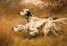 English Setters on Point - Percival Leonard Rosseau