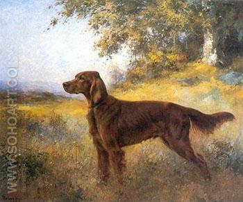 The Irish Setter Red Helmit 1922 - Percival Leonard Rosseau reproduction oil painting