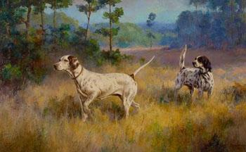 The Setter Wana Brook Babe 1929 - Percival Leonard Rosseau reproduction oil painting