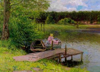 Sommertag Bei Handekehle Grunewald 1896 - Richard Hermann Eschke reproduction oil painting