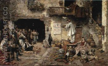 The Saltimbanque Valencia 1883 - Vicente March Y Marco reproduction oil painting