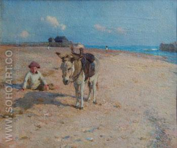 On Suffolk Sands - Walter Frederick Osborne reproduction oil painting
