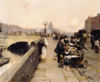 The Streets of Dublin - Walter Frederick Osborne reproduction oil painting