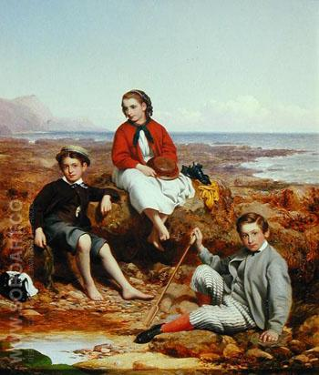 Florence Arthur and Charles Moore 1868 - William Crosby reproduction oil painting