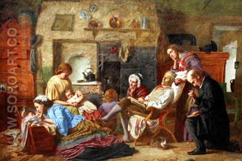 Prayer Time 1863 - William Crosby reproduction oil painting