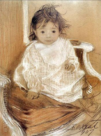 Corka Kazia 1907 - Teodor Axentowicz reproduction oil painting