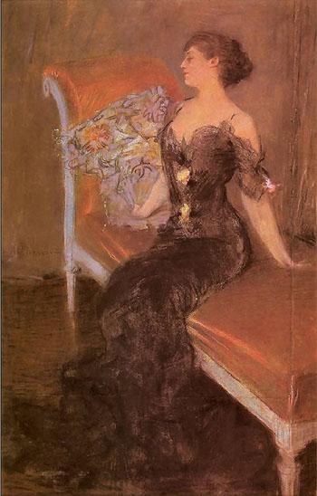 Czarna Dama 1906 - Teodor Axentowicz reproduction oil painting