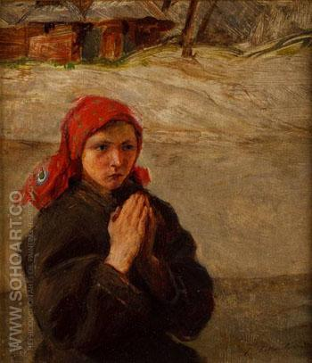 Mloda Huculka - Teodor Axentowicz reproduction oil painting