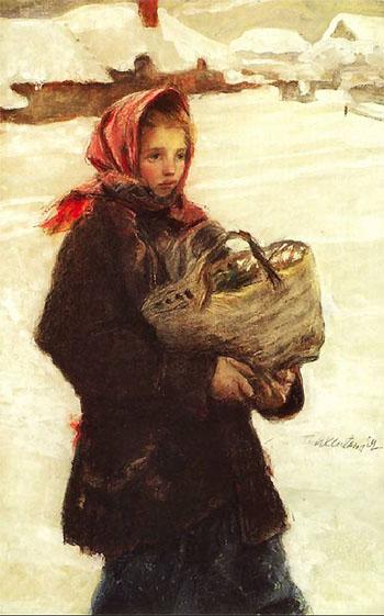 Mloda Huculka A - Teodor Axentowicz reproduction oil painting