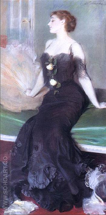 Portret Damy A 1906 - Teodor Axentowicz reproduction oil painting