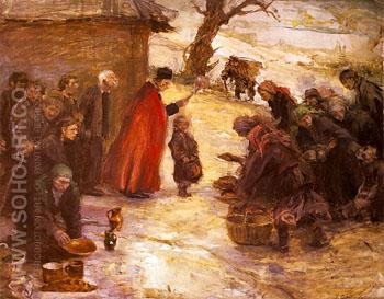 Swiecone 1899 - Teodor Axentowicz reproduction oil painting