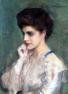 Woman Deep Thought - Teodor Axentowicz