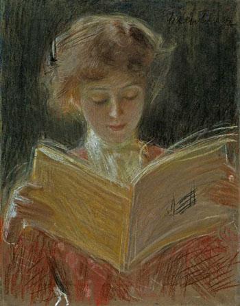 Zaczytana c1905 - Teodor Axentowicz reproduction oil painting