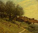 A Hillside Village in Provence - Henry Herbert La Thangue