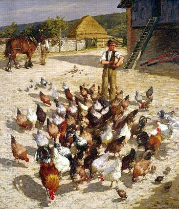 A Sussex Farm 1887 - Henry Herbert La Thangue reproduction oil painting