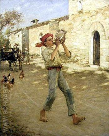 Crying Fish in Spain - Henry Herbert La Thangue reproduction oil painting