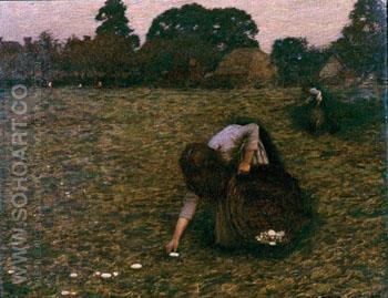 Dawn - Henry Herbert La Thangue reproduction oil painting