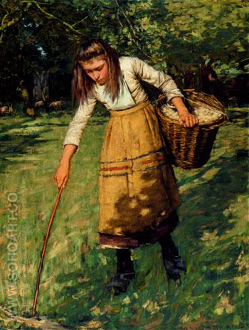 Gathering Wool - Henry Herbert La Thangue reproduction oil painting