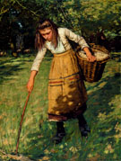 Gathering Wool - Henry Herbert La Thangue