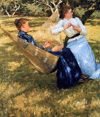 In the Orchard - Henry Herbert La Thangue reproduction oil painting