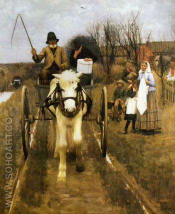 Leaving Home - Henry Herbert La Thangue reproduction oil painting