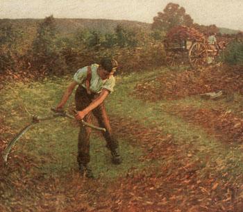 Mowing Bracken - Henry Herbert La Thangue reproduction oil painting