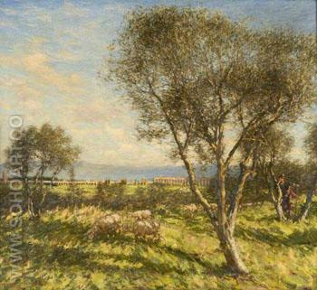 Roman Campagna - Henry Herbert La Thangue reproduction oil painting