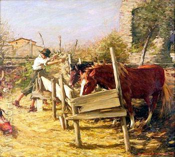 The Appian Way - Henry Herbert La Thangue reproduction oil painting