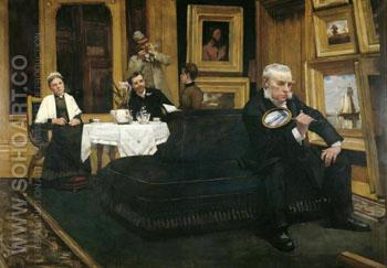 The Connoisseur - Henry Herbert La Thangue reproduction oil painting