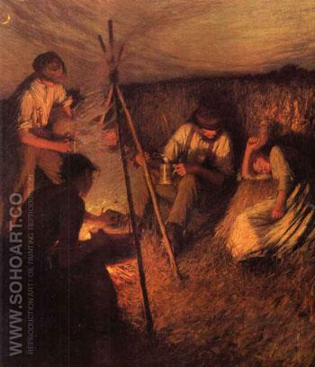 The Harvesters Supper - Henry Herbert La Thangue reproduction oil painting