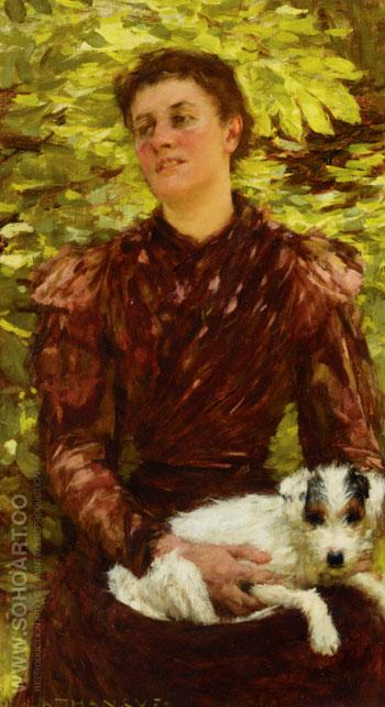 The Puppy - Henry Herbert La Thangue reproduction oil painting