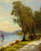 Veronese Shepherdess Lake Ganda - Henry Herbert La Thangue
