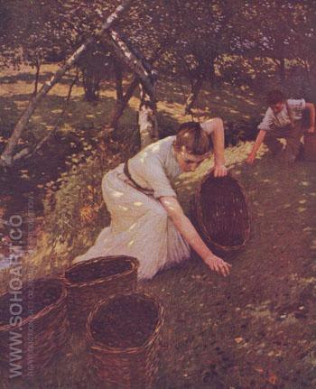 Gathering Plums - Henry Herbert La Thangue reproduction oil painting